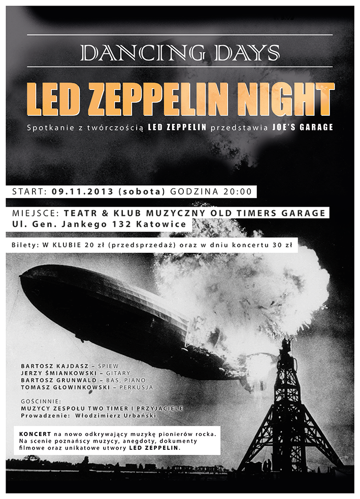 Led Zeppelin Night w Old Timers Garage